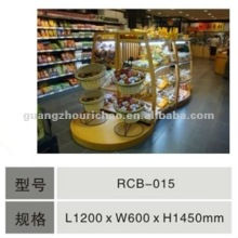 Luxury and nice design supermarket wooden bread rack display