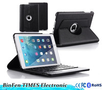 for iPad Mini1&2&3 360 degree rotating detachable wireless bluetooth keyboard with folio swivel case