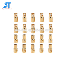 Factory direct selling rc model batter3.5mm Copper Bullet Banana Plug Connectors Male Female pair for RC Motor ESC Battery Part