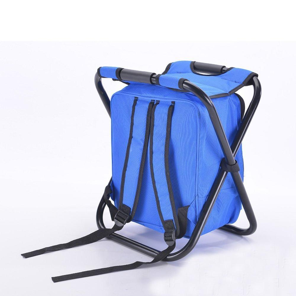 Portable Beach Chair with Cooler Bag and Side Bag