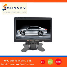 7 Inches Touchscreen Desktop TFT-LCD Monitor built-in speaker,Stand/Headrest