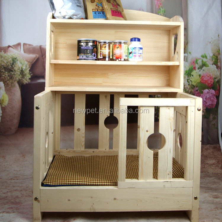 China-made new coming pet house bed big wooden dog house with locker