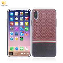 Mobile Accessories PU Emboss Printed Case for iPhone X