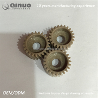 Custom PEEK /PI/PPS/ PBT petroleum machinery accessories worm gear