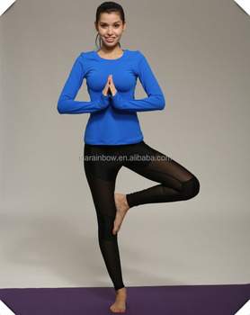 Women Athletic Cool Dri Fit Moisture Wicking Athletic Training Performance Long Sleeve Shirts Wholesale