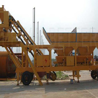 movable YHZS25 concrete batching plant