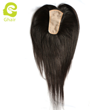 Silk base hair topper for ladies natural hair line hold on strong endurance