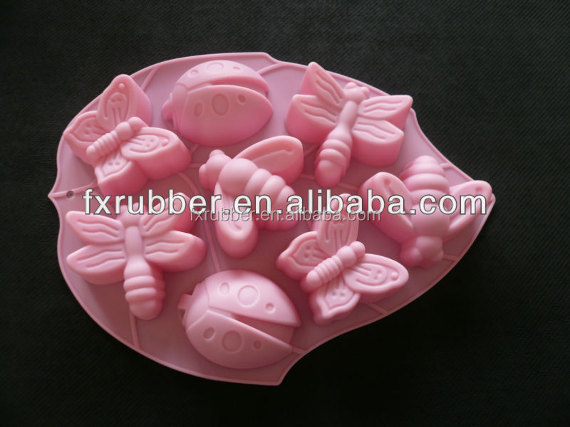 2015 famous insects shape with high quality silicone moulds