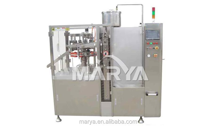 Hot air inner heating style automatic plastic tube filling and sealing machine 30-45 pcs /min