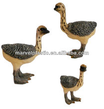 Pvc mini ostrich figure miniature