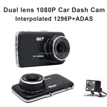 4Inch Dispaly Ultra HD 1296P Car Dash Camera With rearview camera And ADAS system