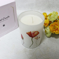 portable cheap customized gas candles in glass