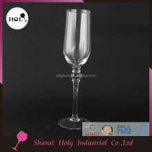 Eco-Friendly wholesale ball stem crystal champagne flute glasses YHL16FL052