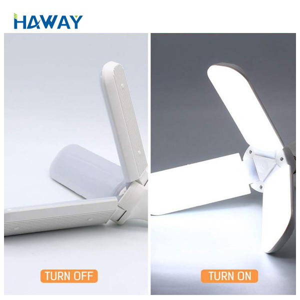 Hot selling product foldinglamp fan blade 45W led bulbled <strong>bulb</strong> e27/ B22 base 2019 New super bright 6500K/ 3000K light <strong>bulb</strong>