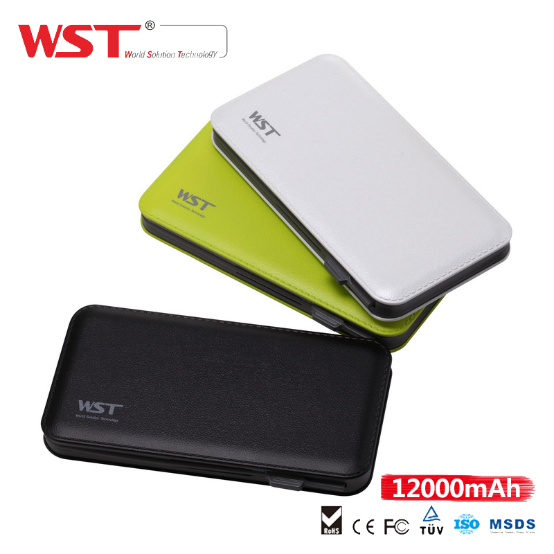 high capacity 12000mah Powerful unique design leather power bank waterproof