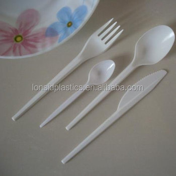 Hot sale 2.8gm dinner use disposable white or black plastic spoons
