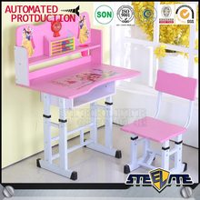 Cheap height adjustable kids table student study desk children desk and chair set for learning writing