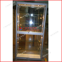Wall mounted glass toys display showcase cabinet /shop showcase/car model showcase