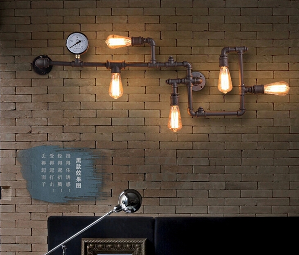 LED decorative compound iron pipe wall lighting