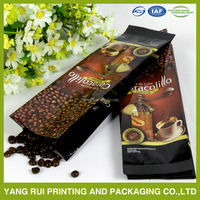 Hot sale block bottom coffee bag moisture proof black coffee bags