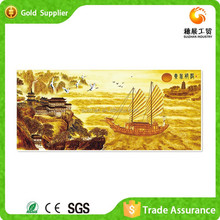 Advanced Machines Canvas Painting Bright Plastic Embroidery Painting Landscpae Oil Painting Boat