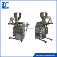 Vertical Automatic pneumatic bag filling and sealing machine for paste sauce
