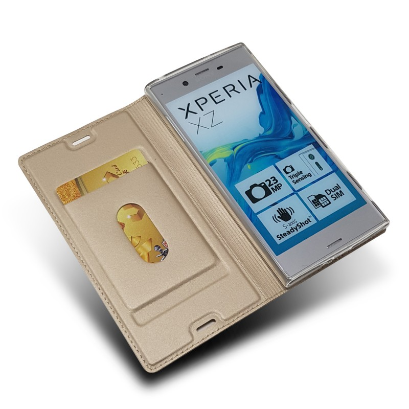 Wholesale Handphone Case Book Flip Leather Wallet Case For Sony Xperia XZ Phone Cover