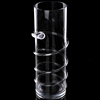 30cm Tall Large Crystal Glass Flower Vase/tall cylinder glass vase