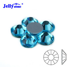 SS6 1440Pcs Aquamarine MC HotFix Flat Back Rhinestone for Garment Accessaries & Wedding Dres