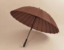 New design nice 24K straight umbrella with auto open hook handle