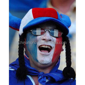 WM 2018 polyester france soccer fan girl hat