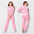 Custom Made Sports Velour Tracksuits, Training Suit, Jogging Suit For Lady