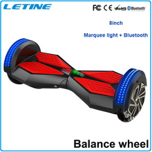 CE 8 inch Smart Balance 2 wheel LED electric scooter self balancing with LED light bluetooth speaker mini scooter electric