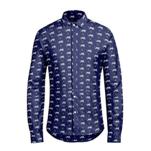 100% cotton liberty shirts with animal print fabric from London