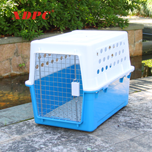 China large travel-aire plastic dog doggy pet travel flight cages bed tray carriers kennel houses