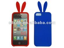 Mobile Phone Rabbit Ears Silicon Cover For iPhone 5