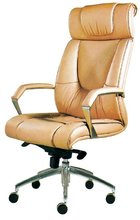 manager office swivel leather chair/modern yellow leather chair/leather swivel leg lift chair