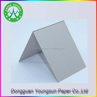Thick duplex board grey board one side white for shoes boxes cover