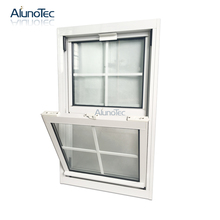 Full Installation Services Double Hung Window Stained Glass Vertical Sash Window System