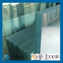 17.52mm toughened and laminated glass fence