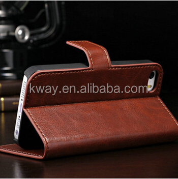 Hot Magnetic Flip Leather Case For iPhone 4 4S Wallet Case PU Photo Frame Cover with Card Holder Stand KCC053