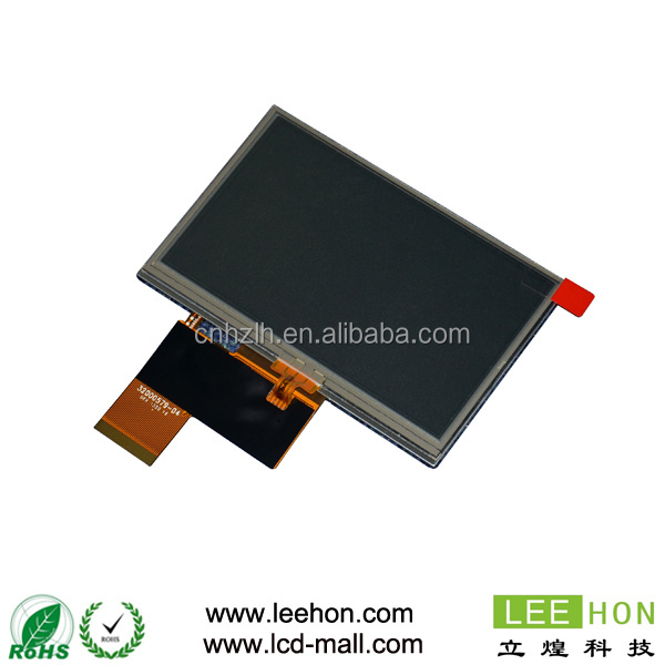 with 4 wire resistive touch screen AT043TN24 V.7 4.3 inch tft lcd display