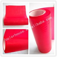 Sun flower red 3D embossed pvc headlight protective film
