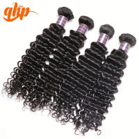 QHP 22 inch virgin remy weft weave free shipping thick ends brazilian human hair extension