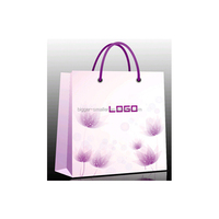 Upscale matte paper shopping bags in classic two-tone color combination of Aqua & Chocolate