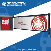 Advertising Automatic Barrier Gate, Outdoor Used Car Parking Advertising