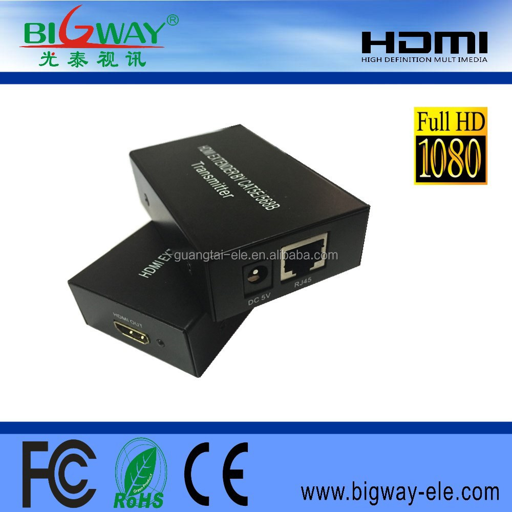 bigway GT-C008 by cat5e x1 powerline 60m hdmi extender