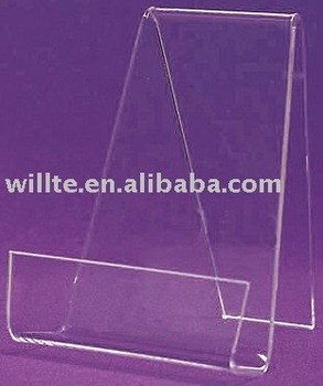 Book Easels w/ Front Lip Clear Acrylic Standard