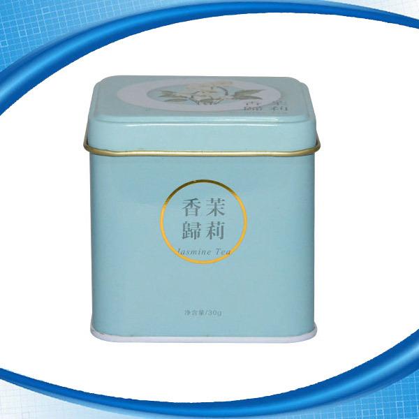 Wholesale Stackable Lid Tea Storage Tin Can Custom Embossed Logo Printing Metal Square Tin Box for Tea