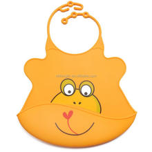 Easily Wipes Clean Comfortable Soft Waterproof Washable Baby Silicone Bib With Food Catcher